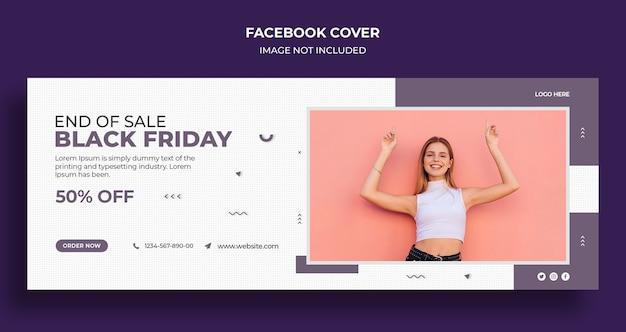 Black friday sale social media cover und web-banner-vorlage