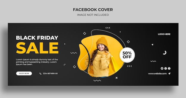 Black friday sale social media cover und web-banner-vorlage