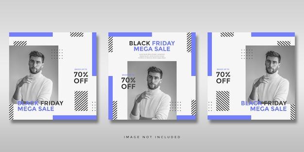 Black friday sale social media instagram banner