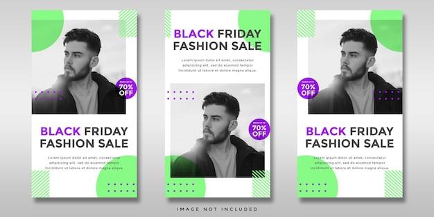 Black friday sale social media instagram geschichten banner