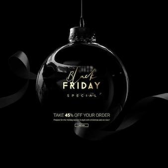 Black friday sale spielerei in 3d-rendering