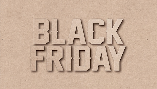 Black friday sale texteffekt design vorlage