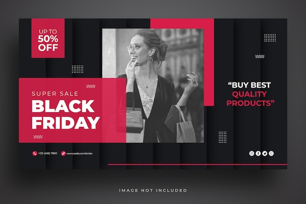 Black friday sale web-banner-vorlage