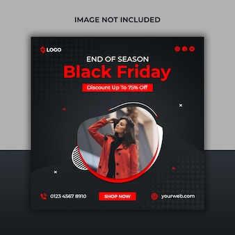 Black friday season sale social media post und web-banner-vorlage