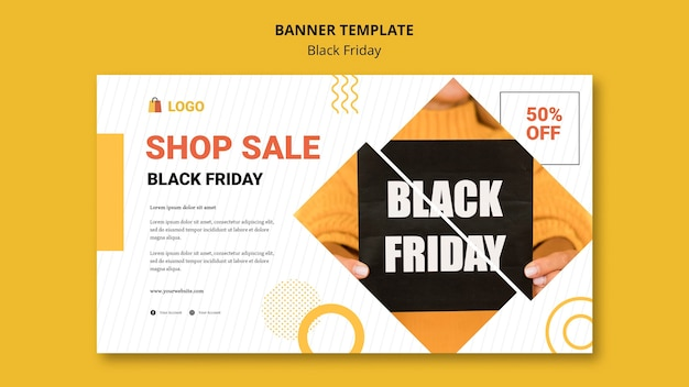 Black friday shopping banner vorlage