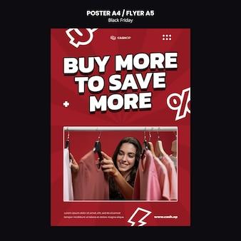 Black friday-shopping-flyer-vorlage