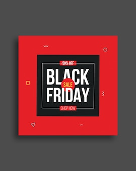 Black friday social media banner vorlage design