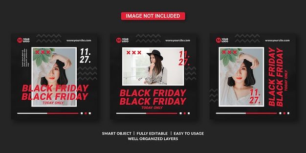 Black friday social media banner vorlage