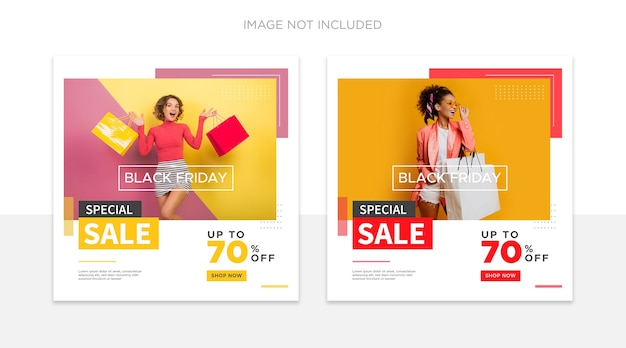 Black friday social media post vorlage