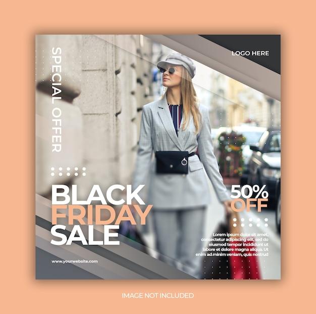 Black friday sonderangebot promotion für instagram post design vorlage