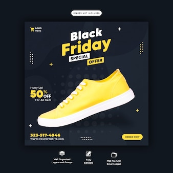 Black friday sonderangebot social media banner vorlage