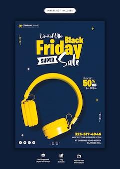 Black friday super sale flyer vorlage