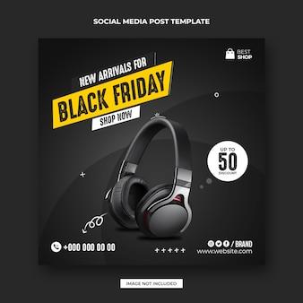 Black friday verkauf social media post