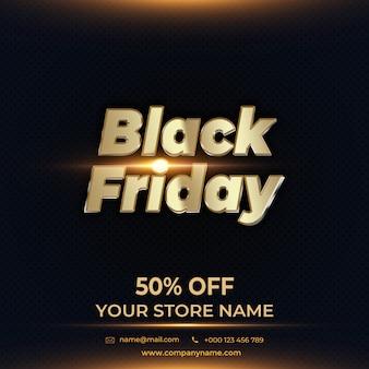 Black Friday-Verkaufsfahne