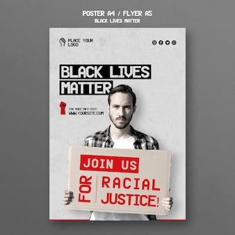 Black lives materie flyer vorlage