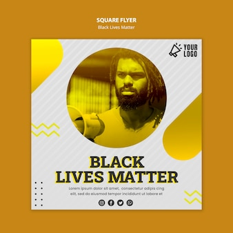 Black lives materie flyer vorlage
