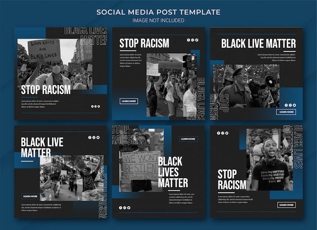 Black lives matter instagram post bundle vorlage