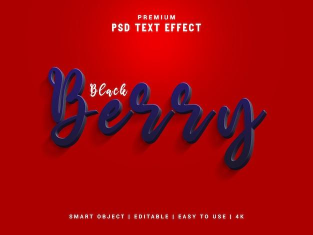 Blackberry text effect vorlage, psd.
