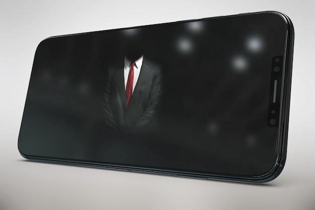 Blakc smartphone schimpfen