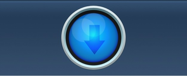 Blau circular download button