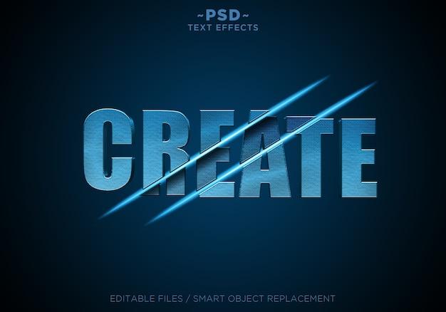 Blau textvorlage für geschnittene effekte erstellen