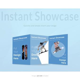 Blaue broschüre verspotten