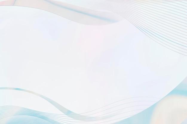 Blaue kurvenrahmenvorlage auf hellblauem hintergrund