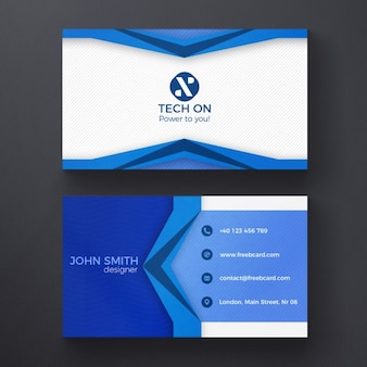Blaue moderne visitenkarte vorlage
