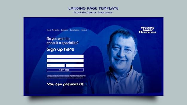 Blaue november-landingpage-vorlage