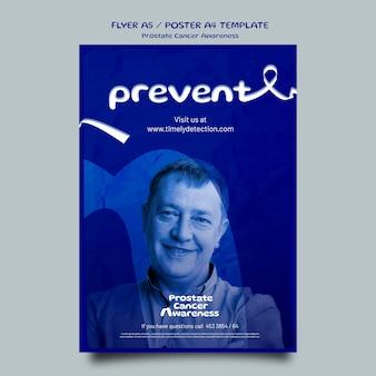 Blaue november-plakatvorlage