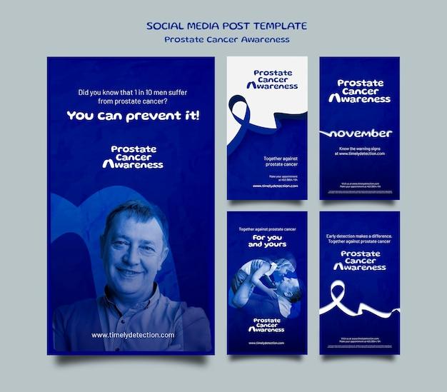 Blaue november-social-media-geschichten eingestellt