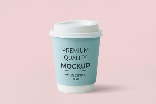 Blaue papierkaffeetasse