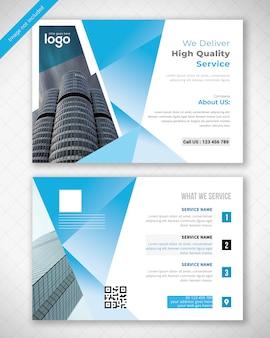 Blaue postkarte design