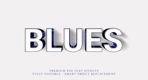 Blauer textarteffekt