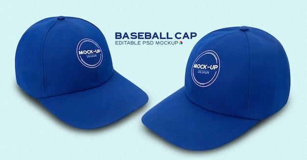 Blaues baseballkappenmodell
