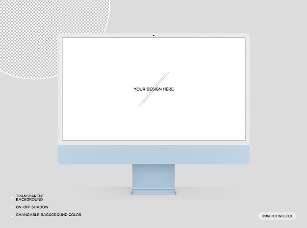 Blaues desktop-computermodell