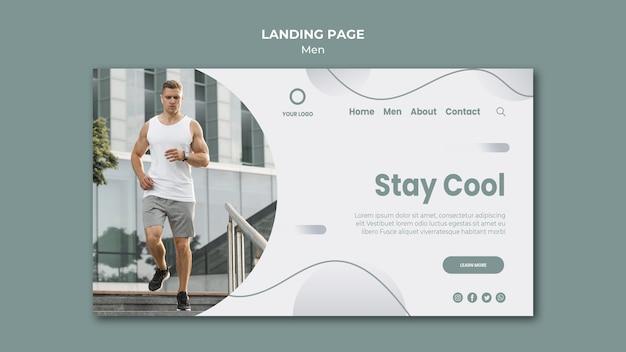 Bleib cool und mach sport landing page