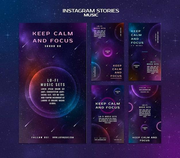 Bleib ruhig und konzentriere dich auf instagram-geschichten