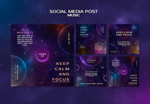 Bleiben sie ruhig und konzentrieren sie sich auf social-media-beiträge