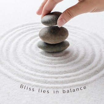 Bliss balance wellness-vorlage psd minimaler social-media-beitrag