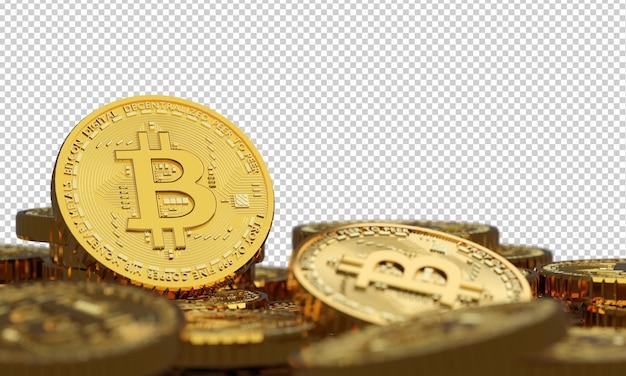 Blockchain-kryptowährung bitcoin isoliert