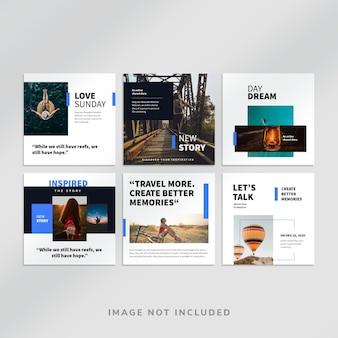 Bloggen instagram square post vorlage