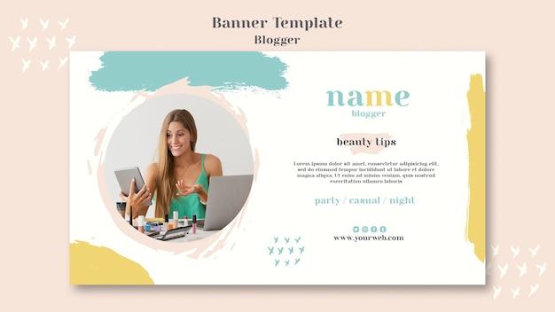 Blogger-konzept-banner-design