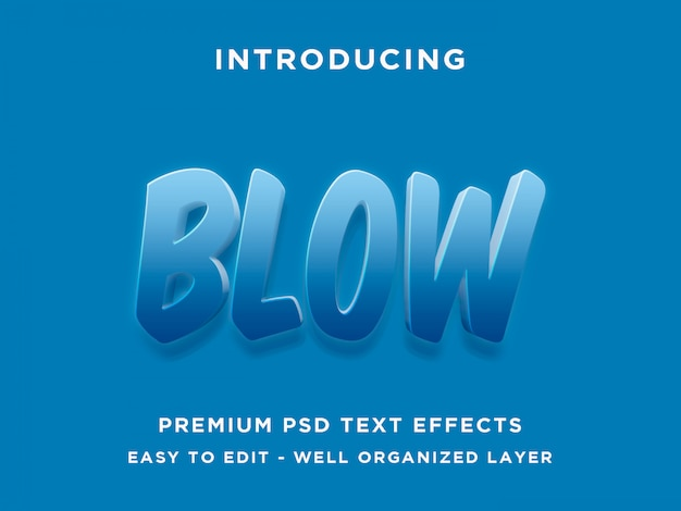 Blow text effect style