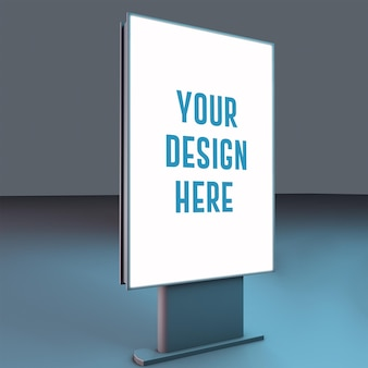 Blue board mockup design rendering