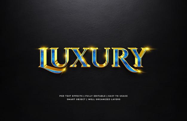 Blue gold luxus 3d text style effekt