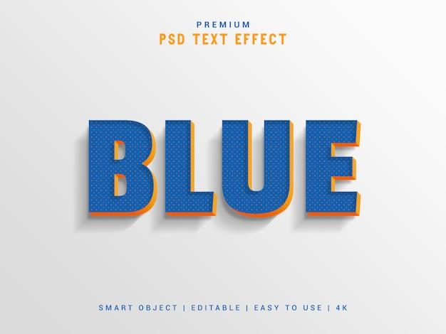 Blue text effect maker