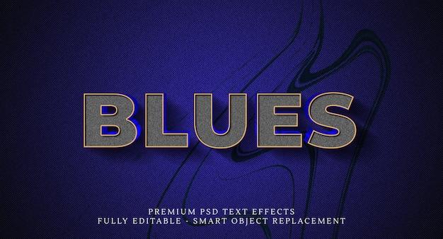 Blues text style effekt, texteffekte