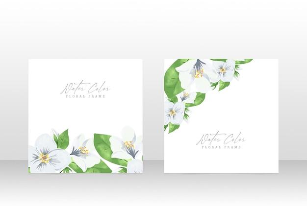 Blumen-aquarellhochzeitsfeier-einladungskarten-entwurfsschablone