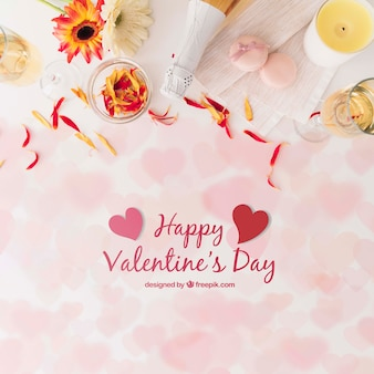 Blumen für valentinstag mit modell